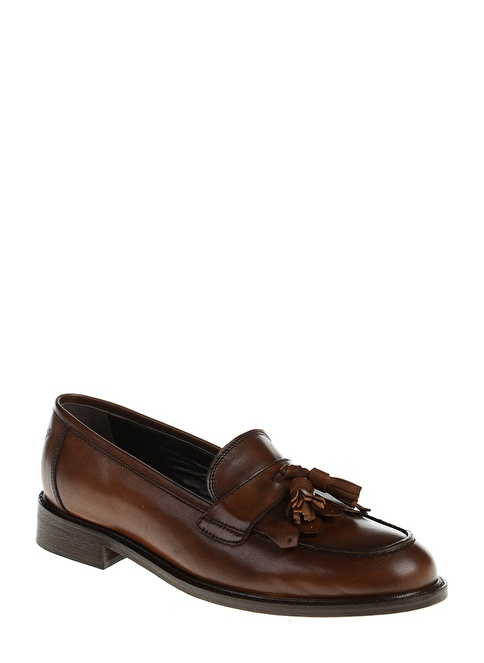 Divarese Deri Loafer Ayakkabı Taba